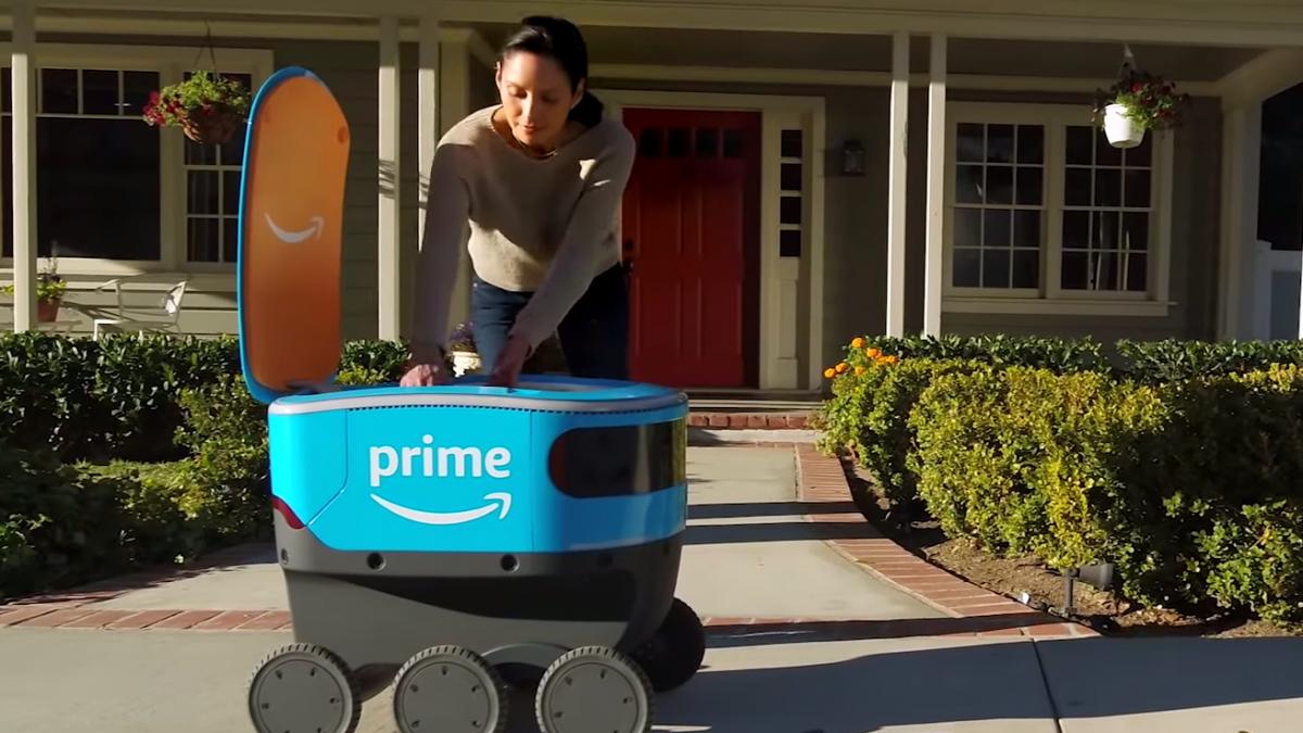 Amazon Deliver Robot Tech